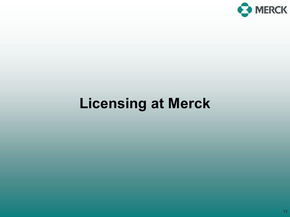Licensing at Merck