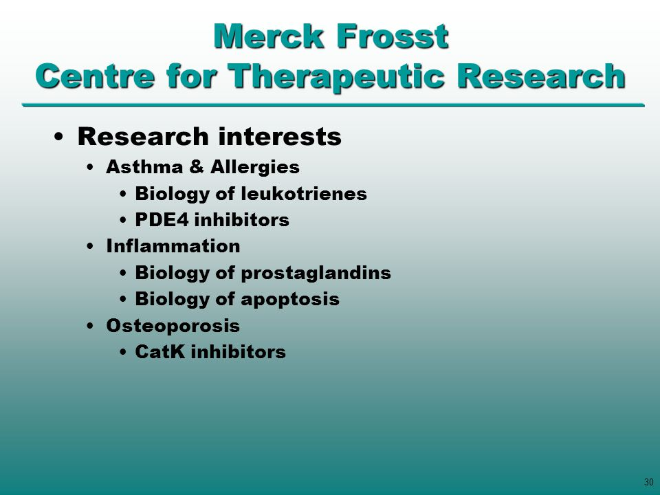 Merck Frosst Centre for Therapeutic Research