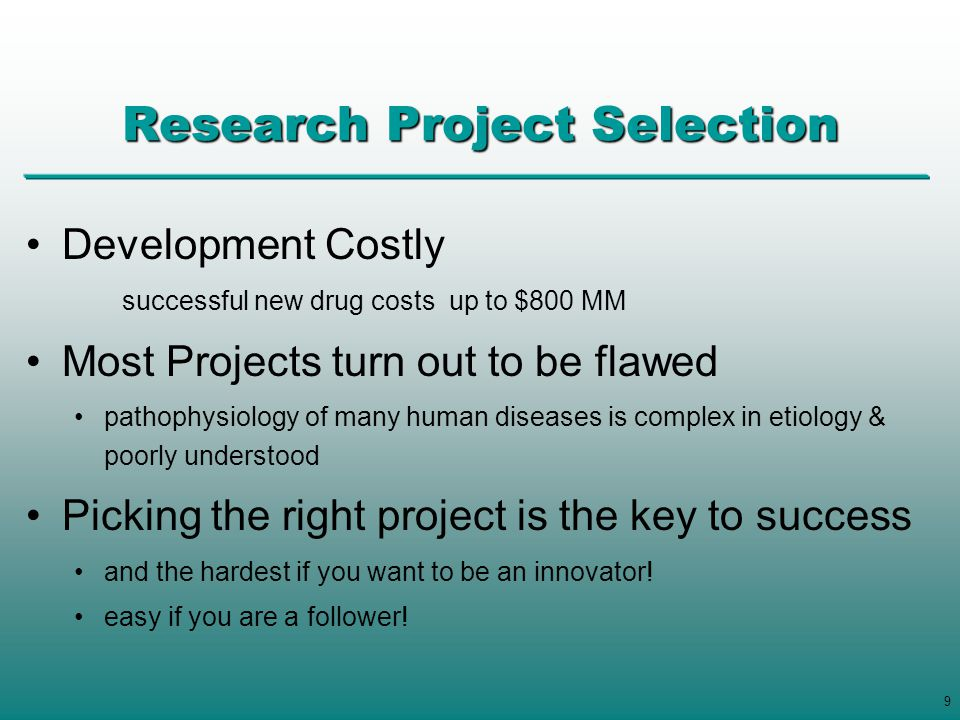 Research Project Selection