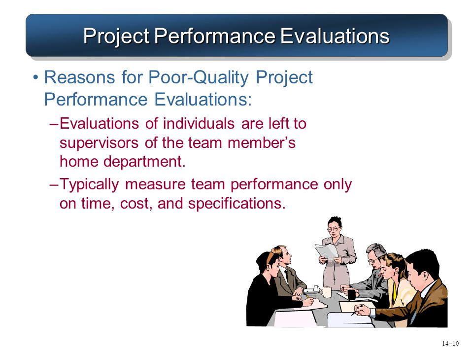 Project Performance Evaluations