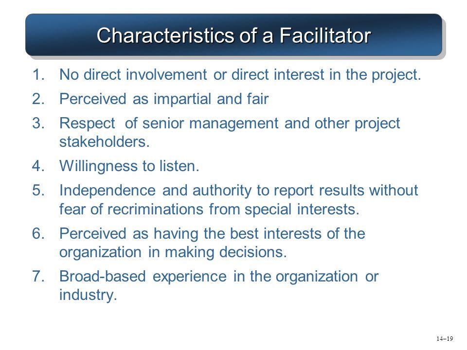 Characteristics of a Facilitator