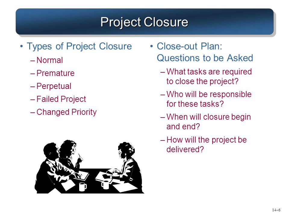 Project Closure Types of Project Closure