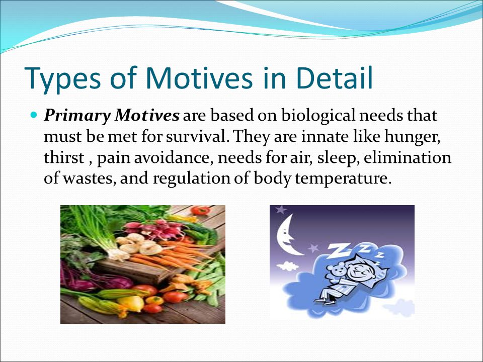Types of Motives in Detail
