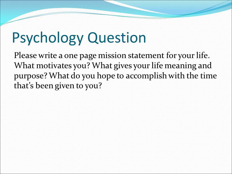 Psychology Question
