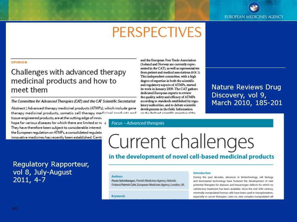 Nature Reviews Drug Discovery, vol 9, March 2010, 185-201