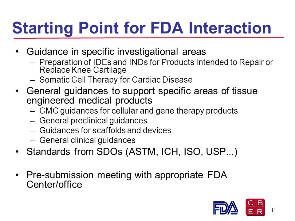 Starting Point for FDA Interaction