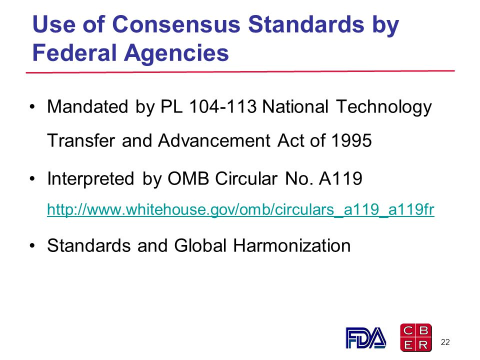 Use of Consensus Standards by Federal Agencies