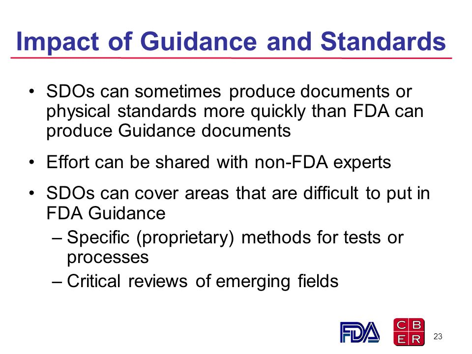 Impact of Guidance and Standards