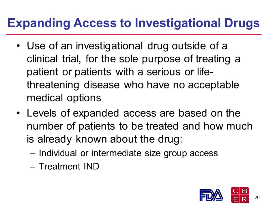 Expanding Access to Investigational Drugs