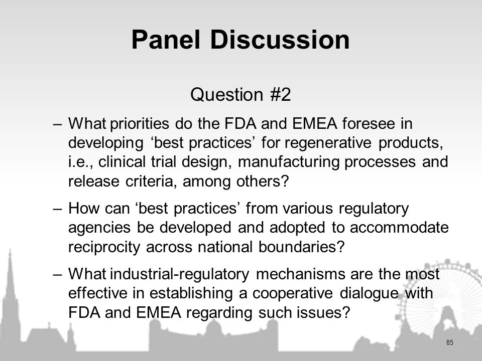 Panel Discussion Question #2