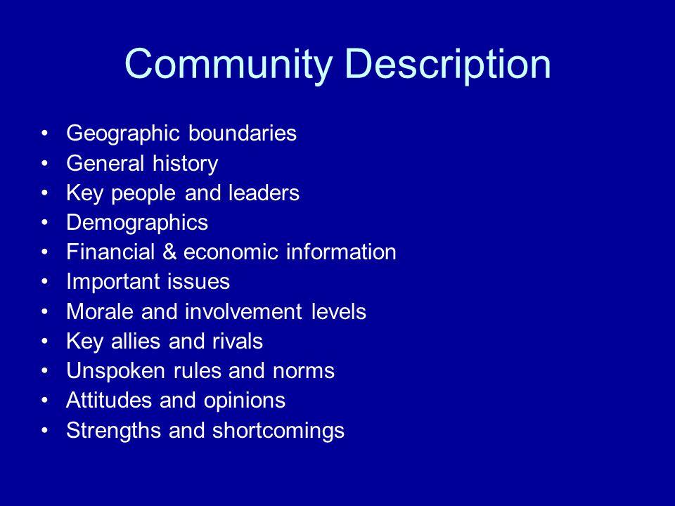 Community Description