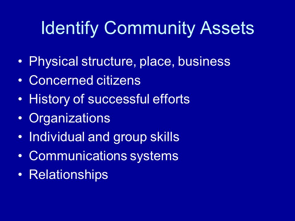 Identify Community Assets