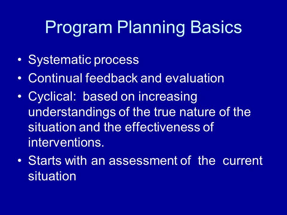 Program Planning Basics