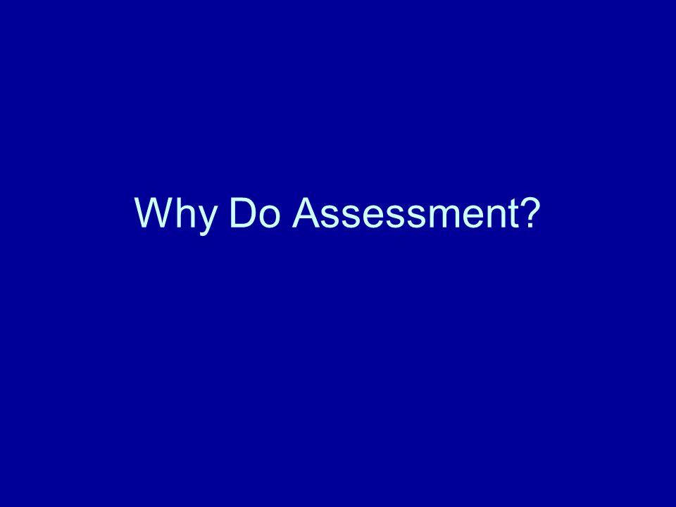 Why Do Assessment