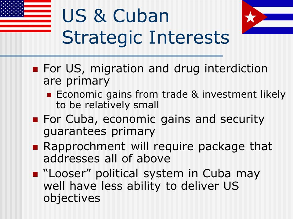 US & Cuban Strategic Interests