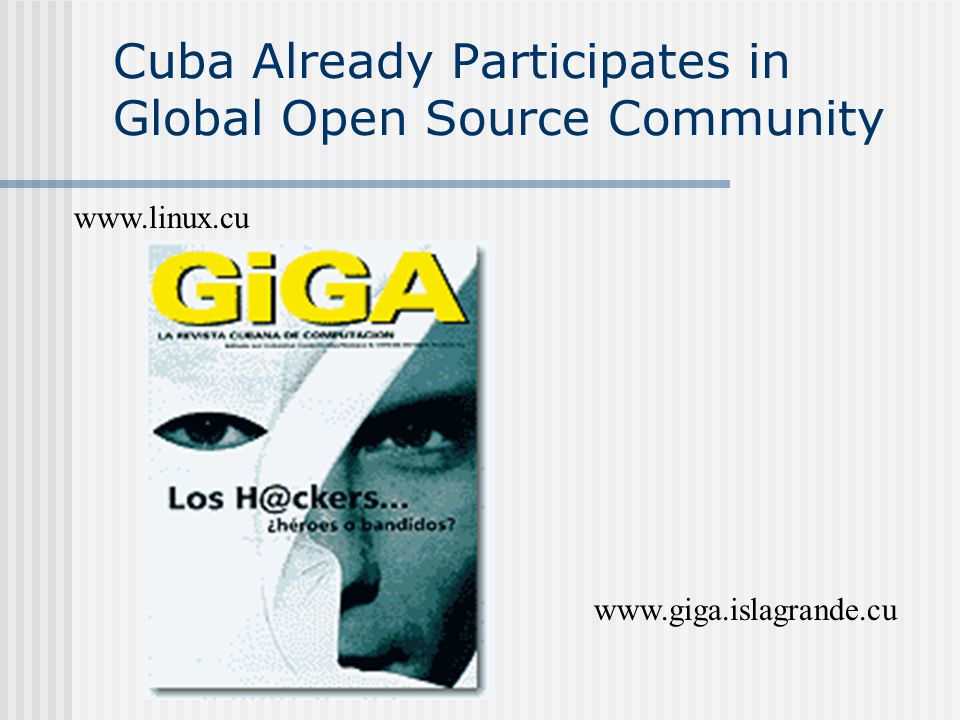 Cuba Already Participates in Global Open Source Community