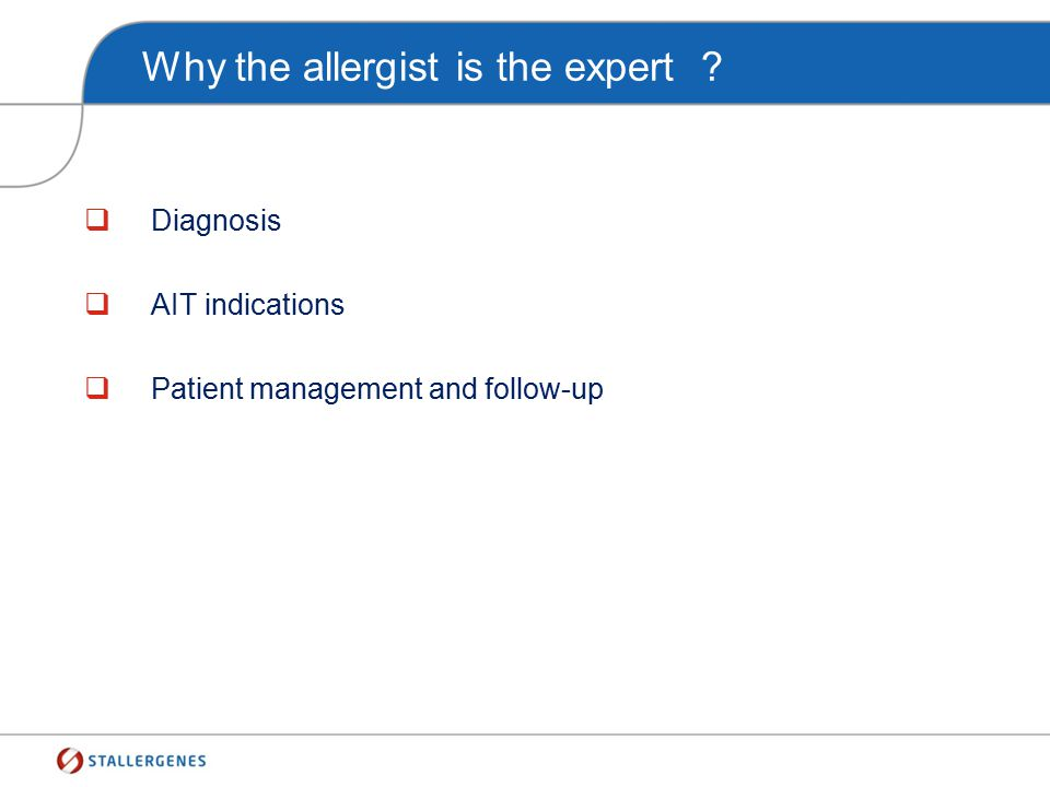 Why the allergist is the expert