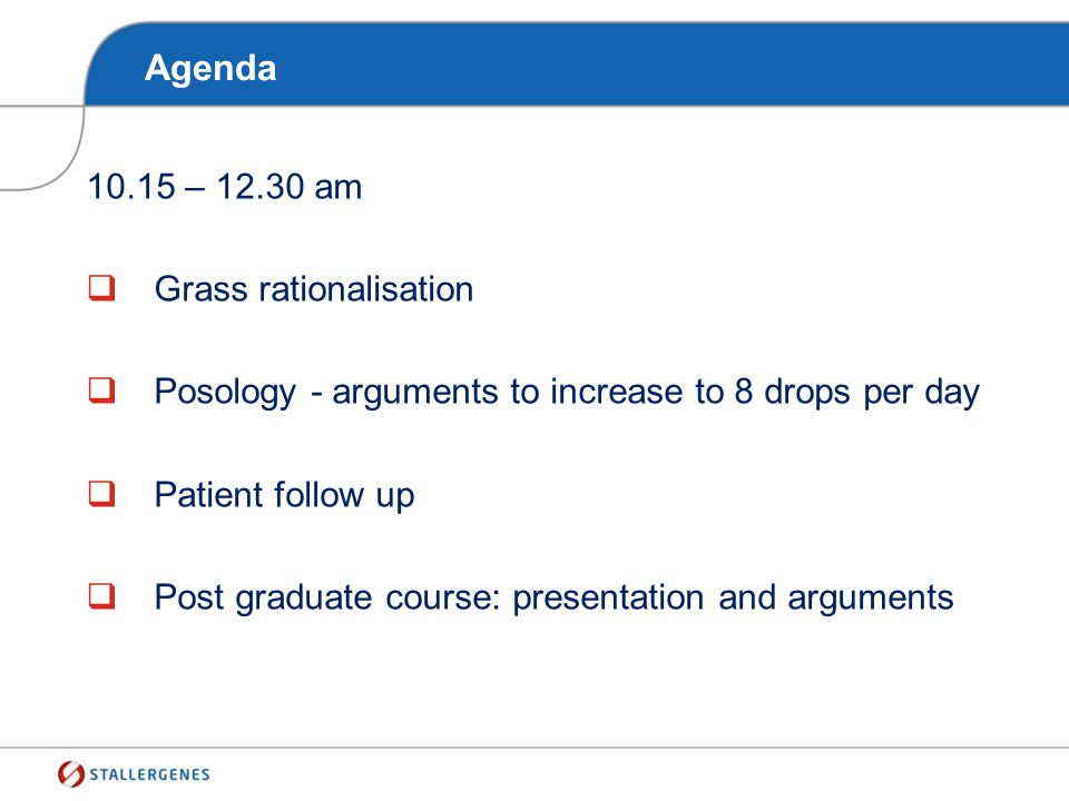 Agenda 10.15 – 12.30 am Grass rationalisation