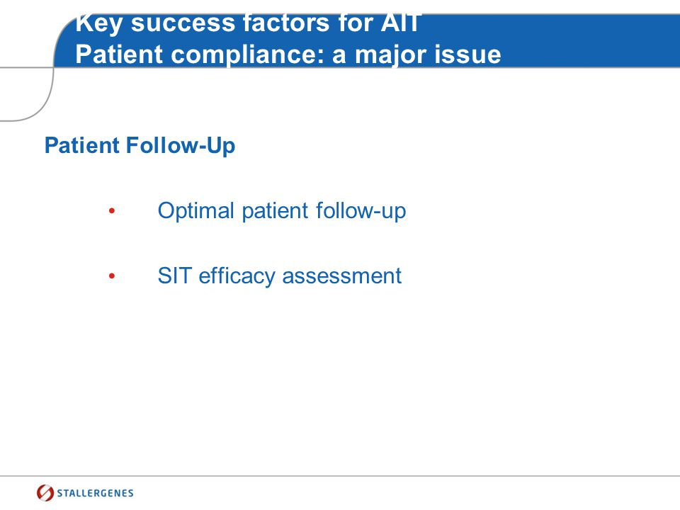 Key success factors for AIT Patient compliance: a major issue