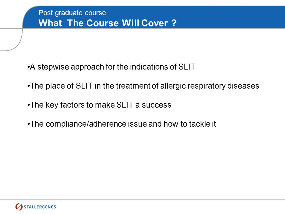 Post graduate course What The Course Will Cover