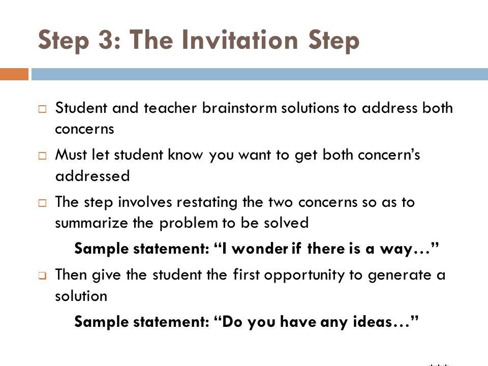 Step 3: The Invitation Step