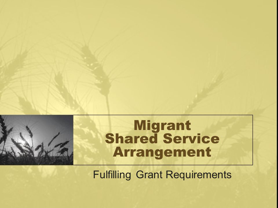 Migrant Shared Service Arrangement