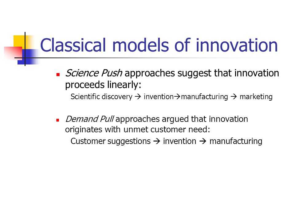 Classical models of innovation