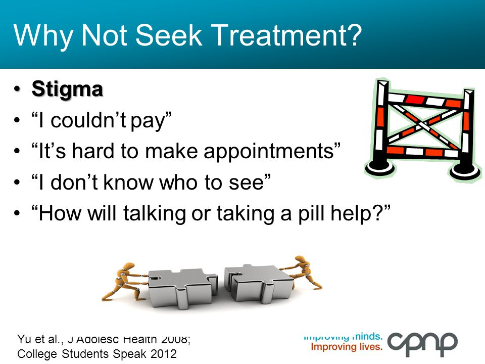 Why Not Seek Treatment Stigma I couldn't pay