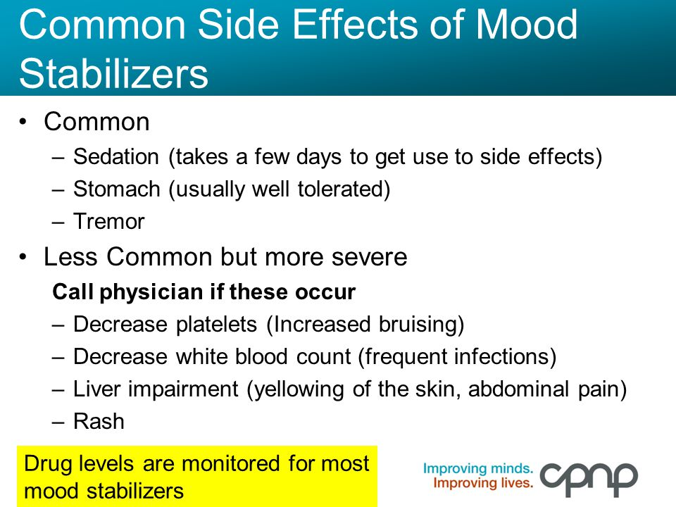 Common Side Effects of Mood Stabilizers