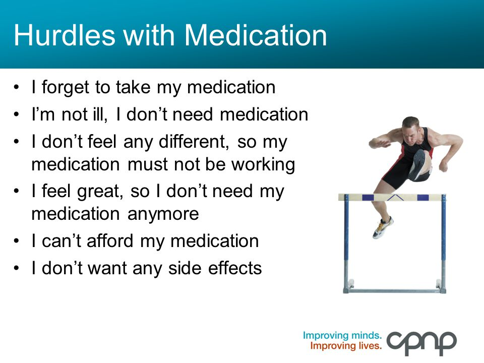 Hurdles with Medication