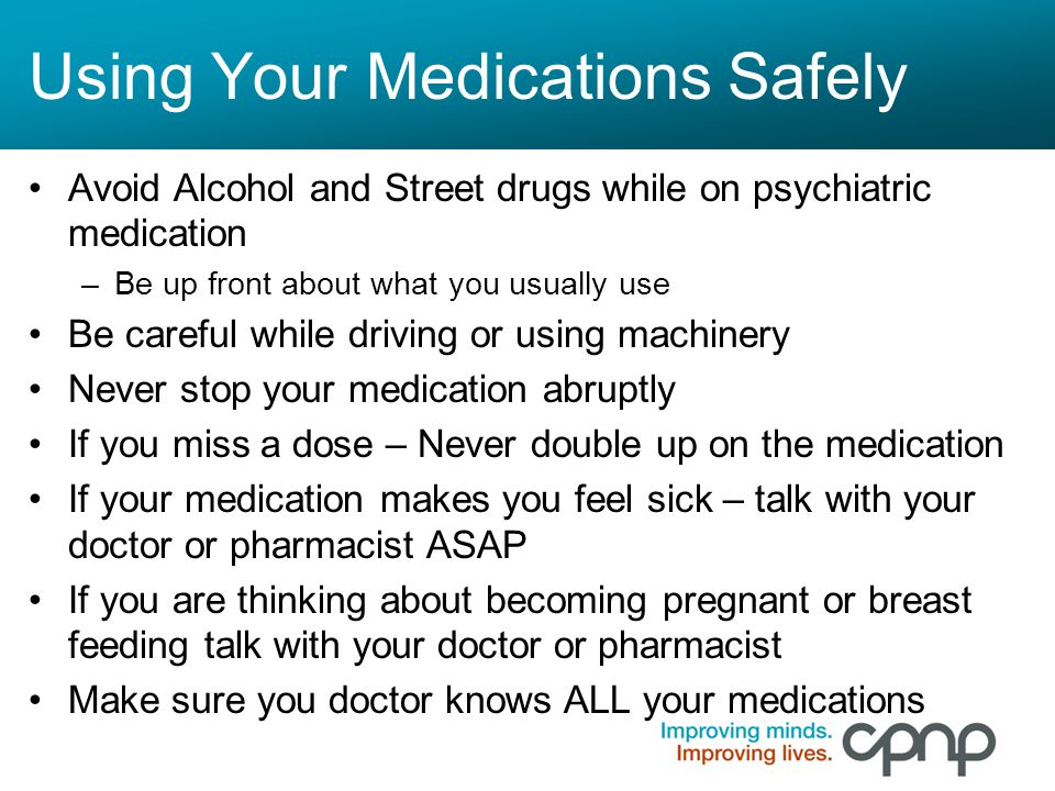Using Your Medications Safely
