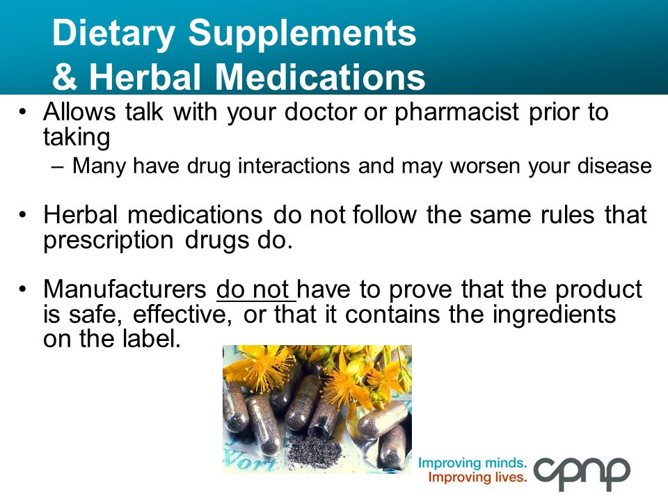 Dietary Supplements & Herbal Medications