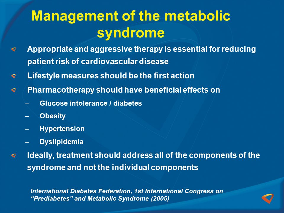 Management of the metabolic syndrome