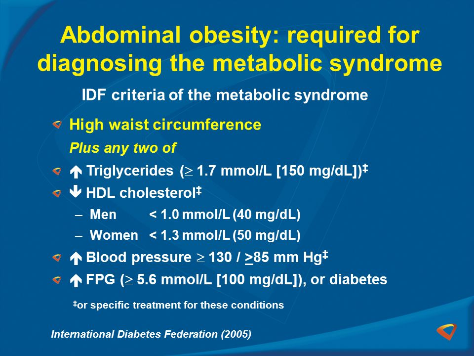 Abdominal obesity: required for diagnosing the metabolic syndrome