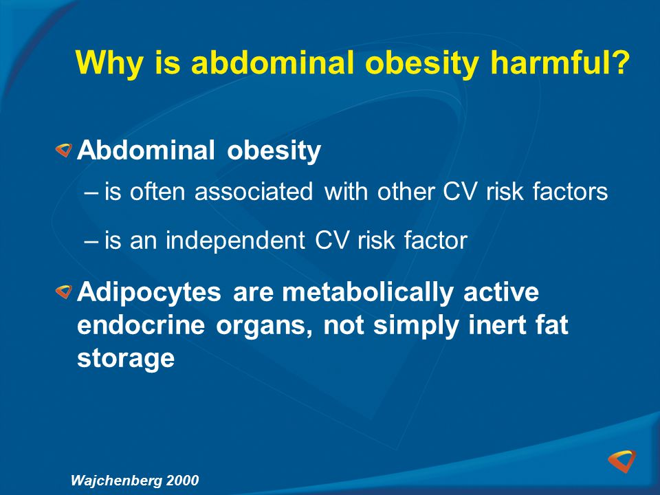 Why is abdominal obesity harmful