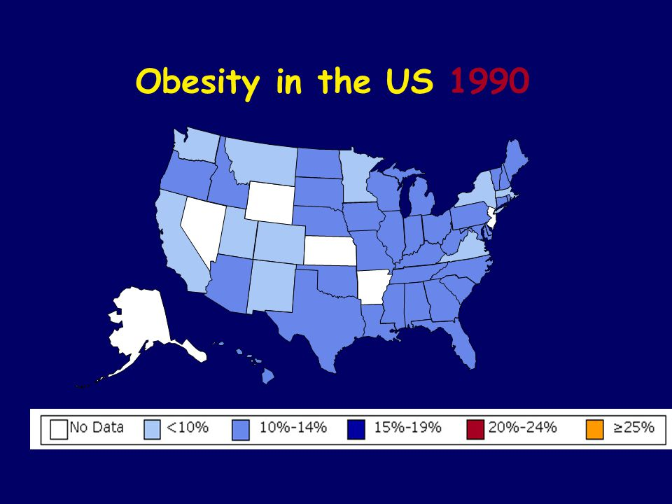 Obesity in the US 1990