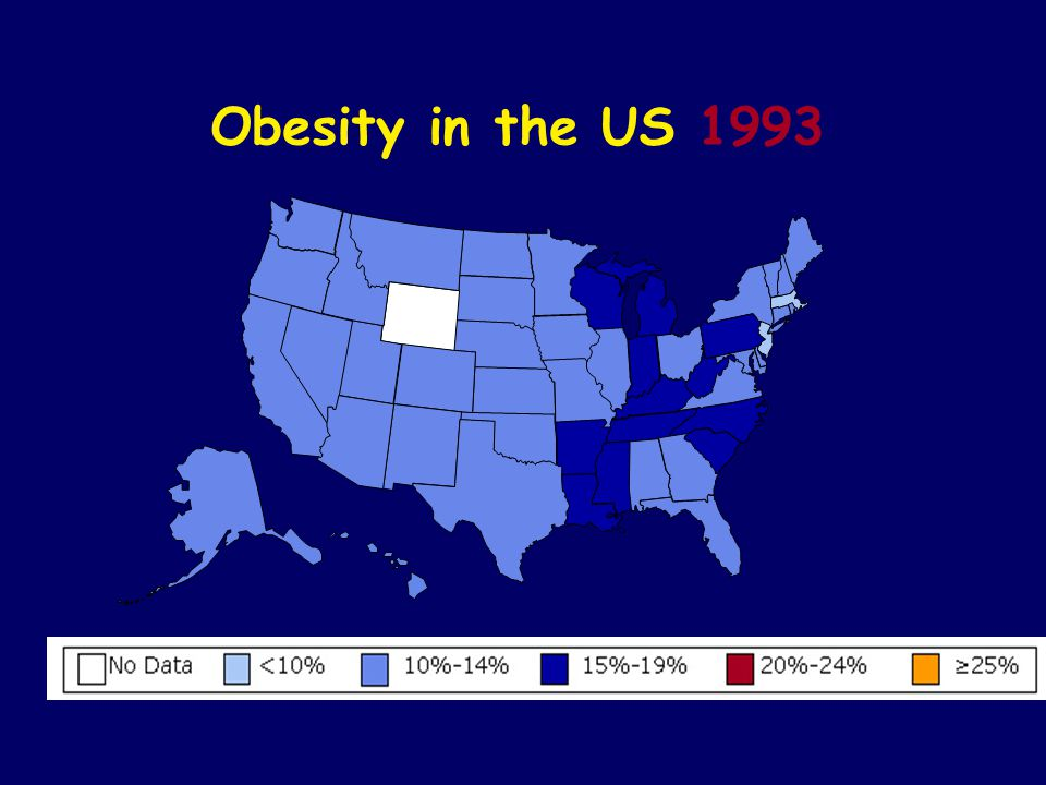 Obesity in the US 1993