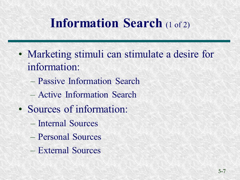 Information Search (1 of 2)