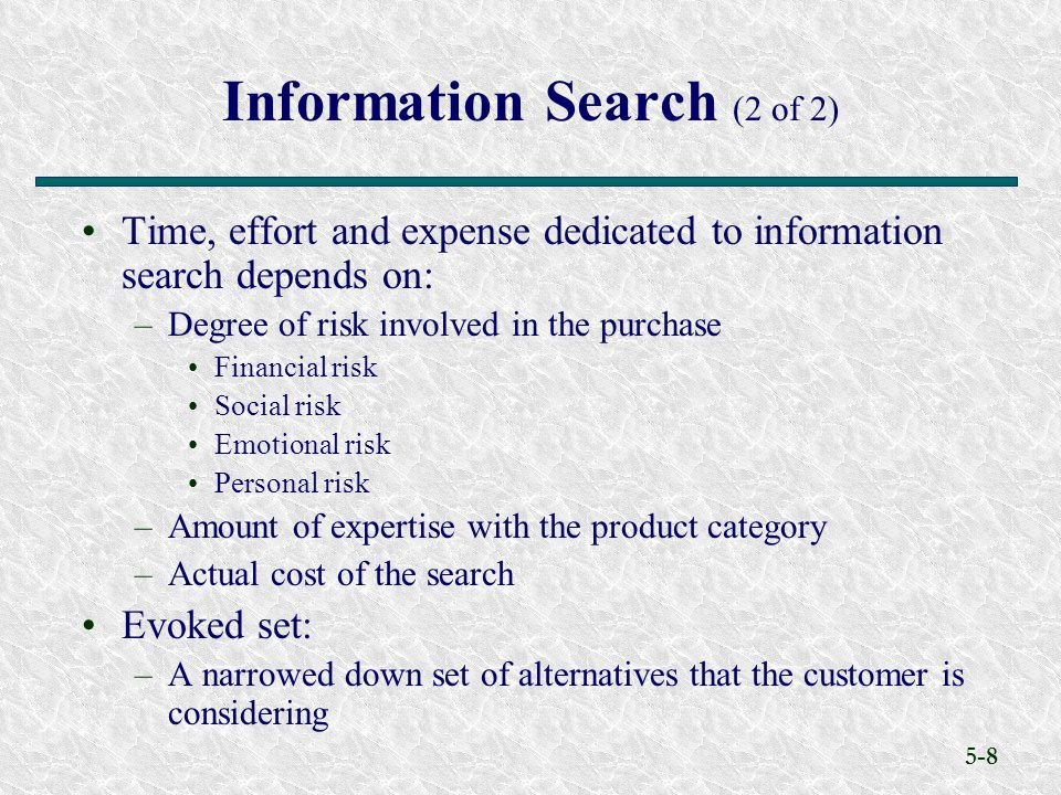 Information Search (2 of 2)