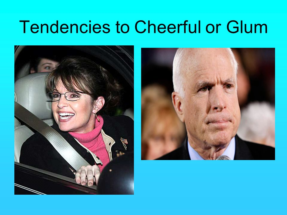 Tendencies to Cheerful or Glum