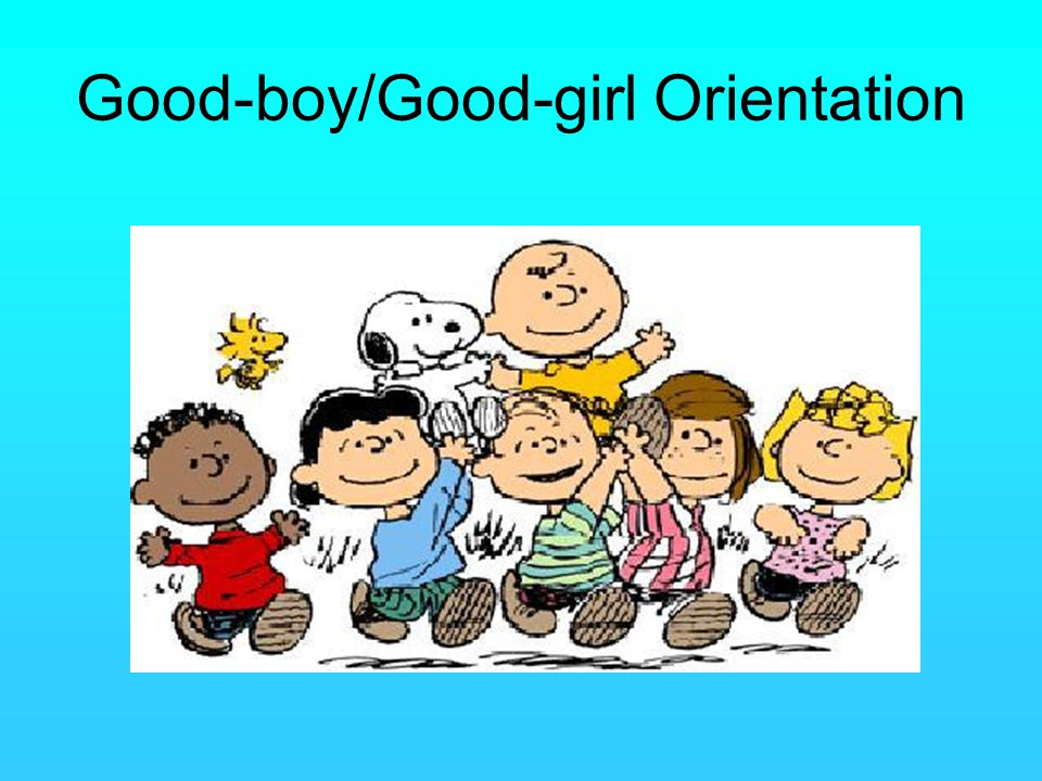 Good-boy/Good-girl Orientation