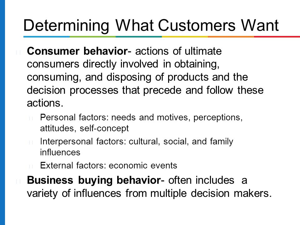 Determining What Customers Want
