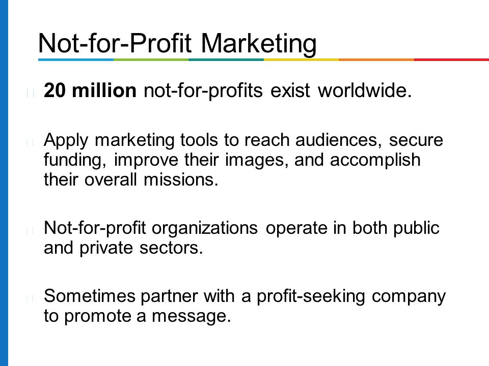 Not-for-Profit Marketing