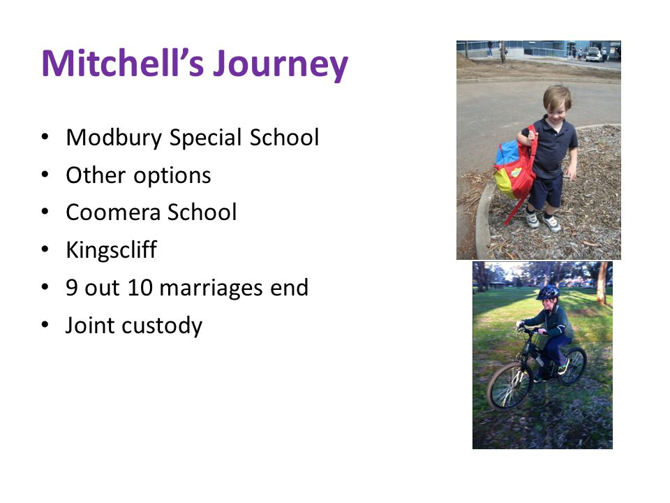 Mitchell's Journey Modbury Special School Other options Coomera School