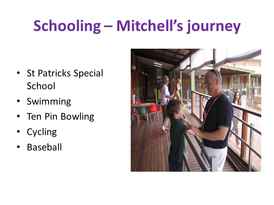 Schooling – Mitchell's journey