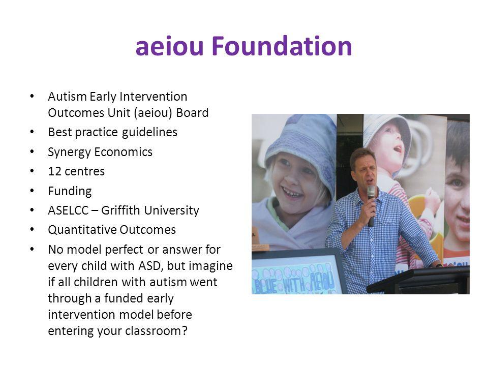 aeiou Foundation Autism Early Intervention Outcomes Unit (aeiou) Board