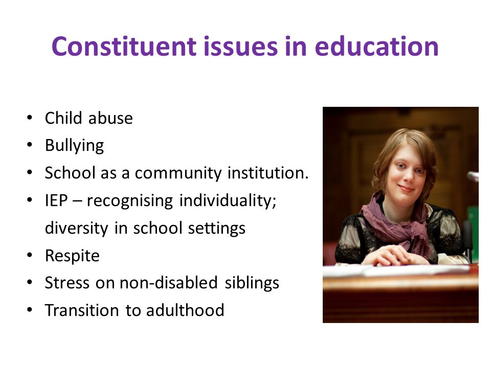 Constituent issues in education