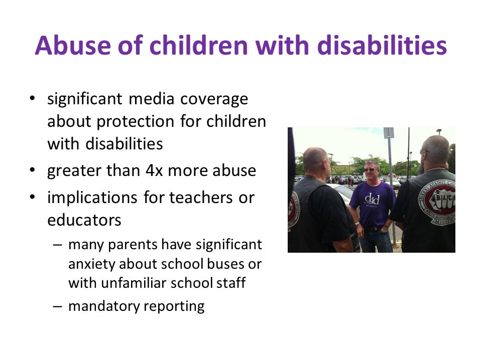 Abuse of children with disabilities