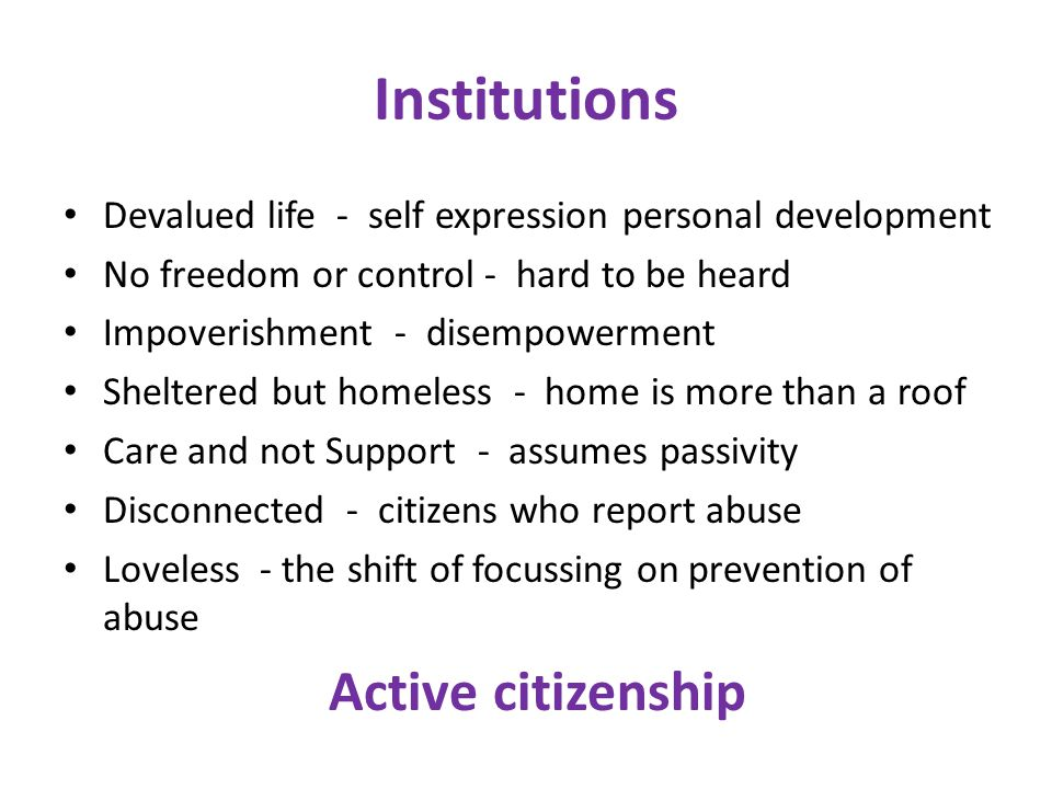Institutions Active citizenship
