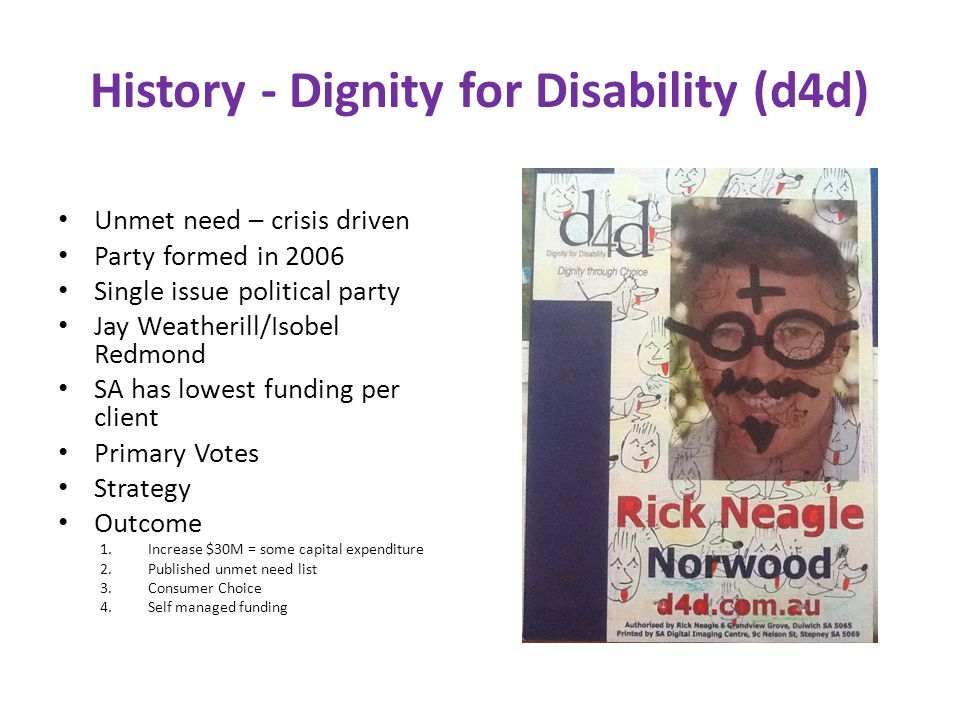 History - Dignity for Disability (d4d)